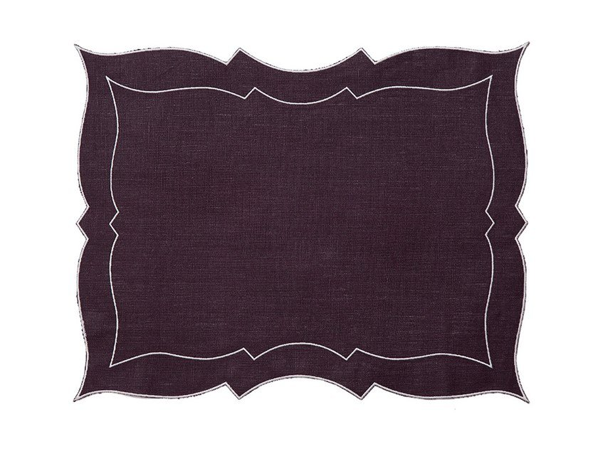 Linen placemat PARENTESI RECTANGULAR | Placemat by La Gallina Matta