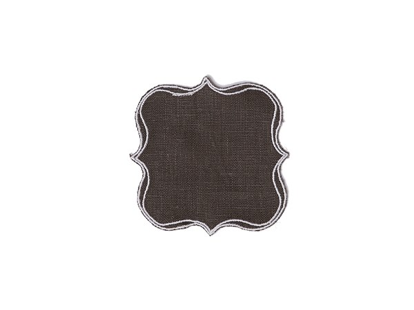 Linen drink coaster PARENTESI SQUARE | Drink coaster by La Gallina Matta