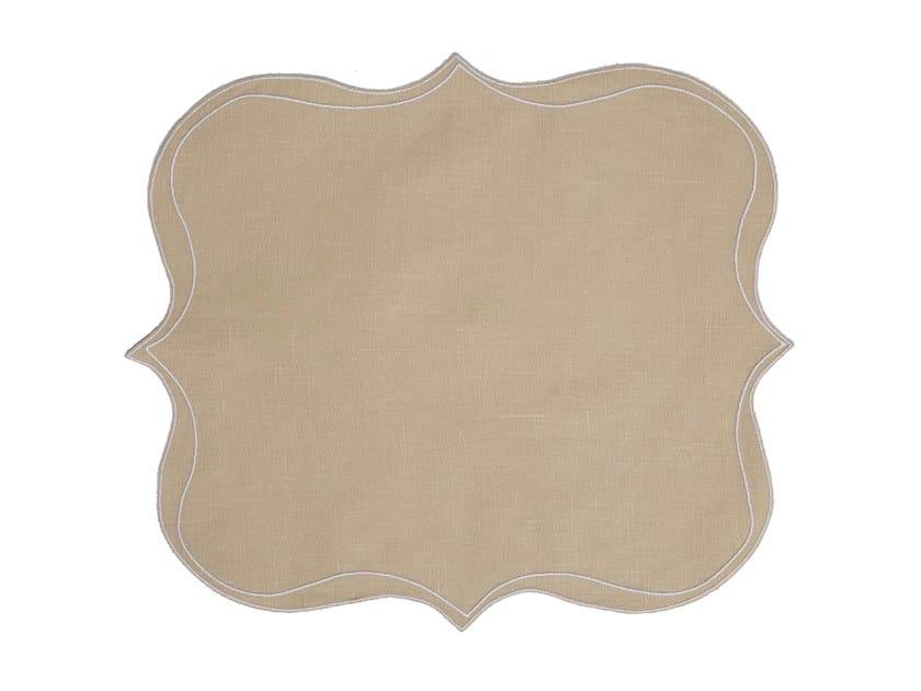 Linen placemat, set of 6 PARENTESI SQUARE | Placemat by La Gallina Matta