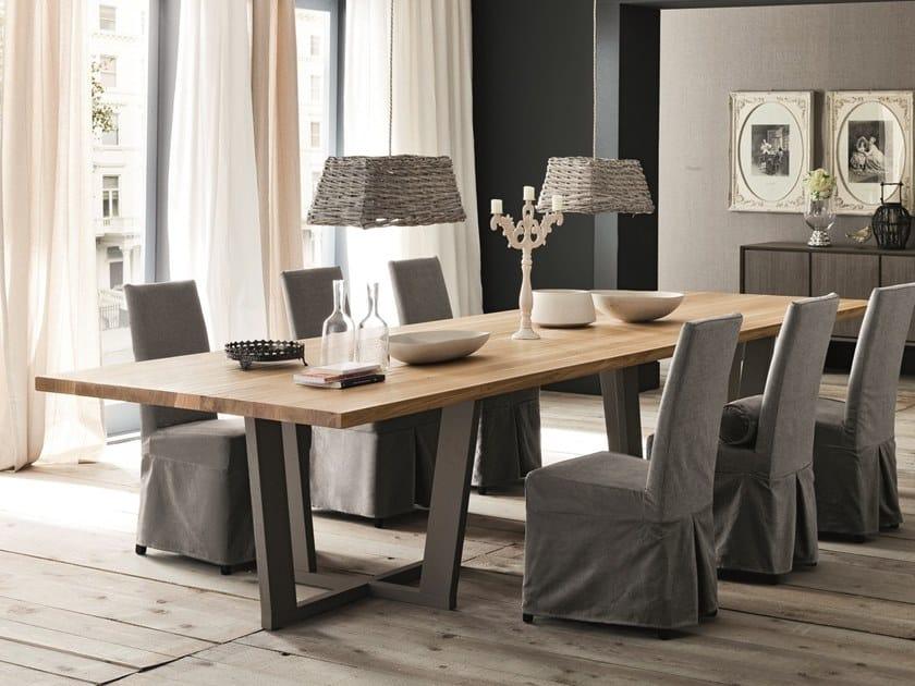 Rectangular oak dining table PARIGI + ROAD by AltaCorte