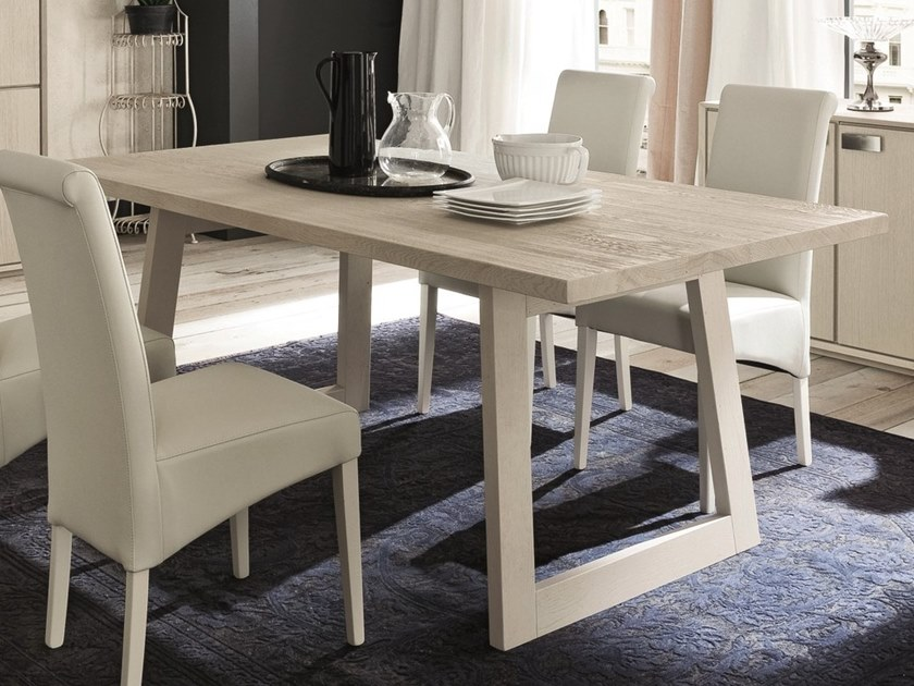 Rectangular oak dining table PARIGI + FLAT by AltaCorte