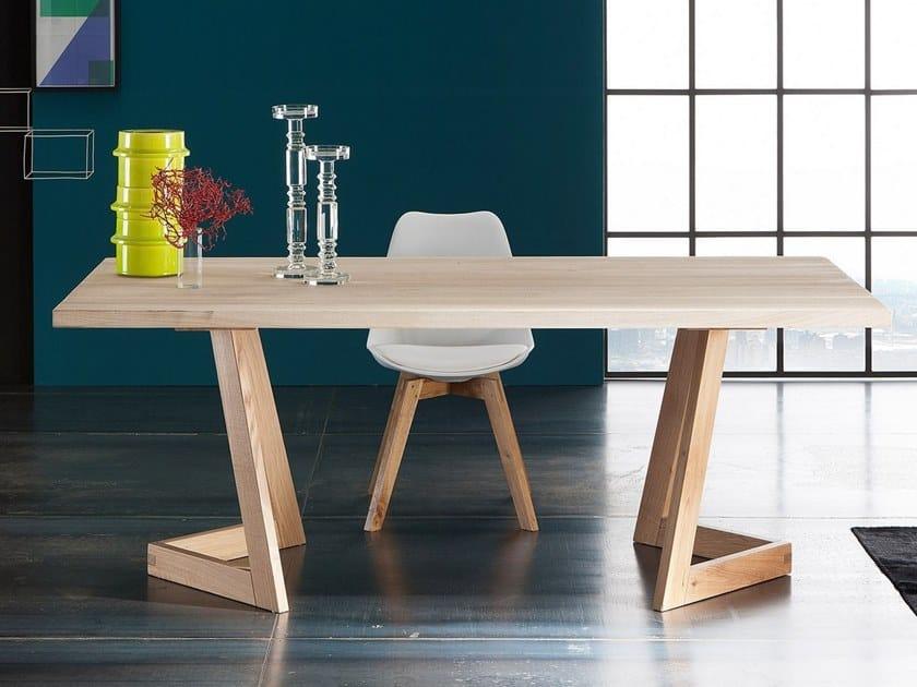 Extending rectangular oak table PARIGI + SEVEN by AltaCorte