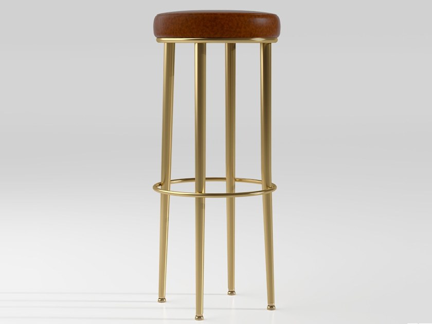 Tabouret Haut Emotional Projects Rembourré Paris By En Cuir W2EYb9IeDH