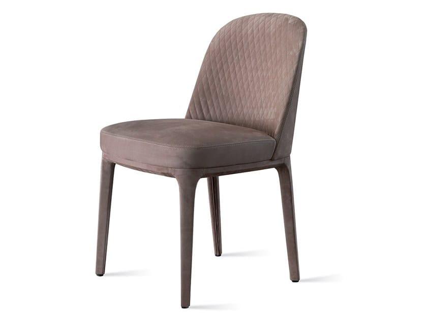 Upholstered nabuk chair PARIS | Nabuk chair by Marelli