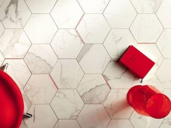 Flooring with marble effect PARIS MADELEINE | Flooring with marble effect by tubadzin
