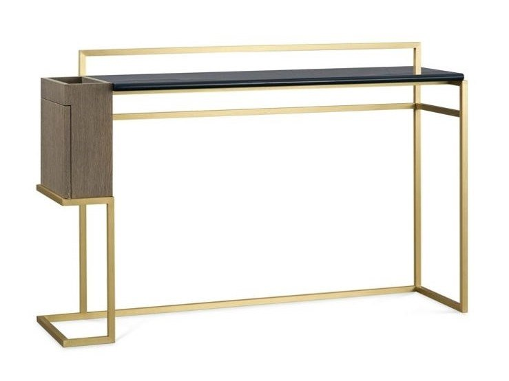 Lacquered rectangular brass console table PARIS PANAME CHAMBRE | Console table by ROCHE BOBOIS