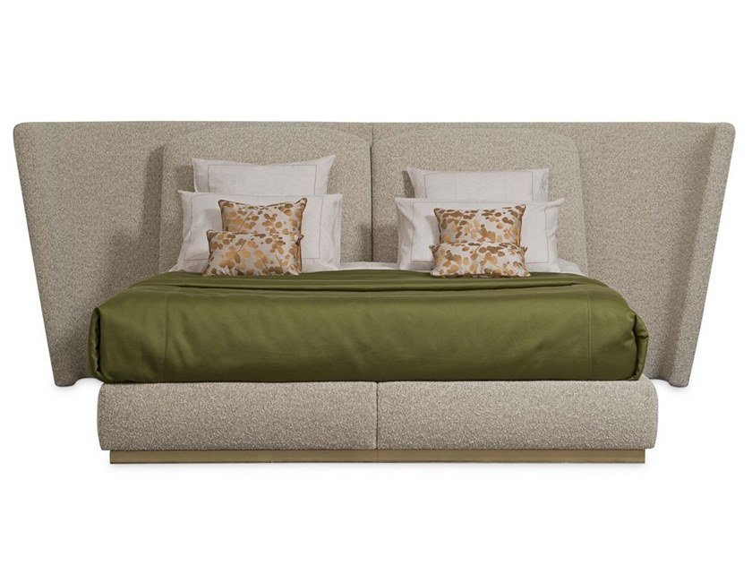 Fabric double bed with upholstered headboard PARIS PANAME | Bed by ROCHE BOBOIS