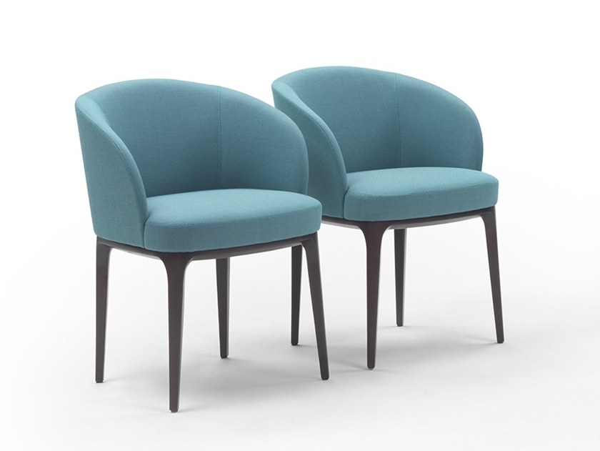 Fabric easy chair with armrests PARIS | Fabric easy chair by Marelli