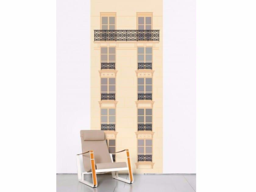 Non-woven paper wallpaper strip PARIS VS. NEW YORK - PARIS by Moustache