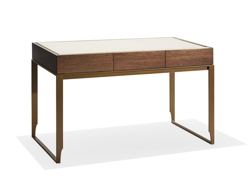 Rectangular wooden writing desk PARIS | Writing desk by HUGUES CHEVALIER