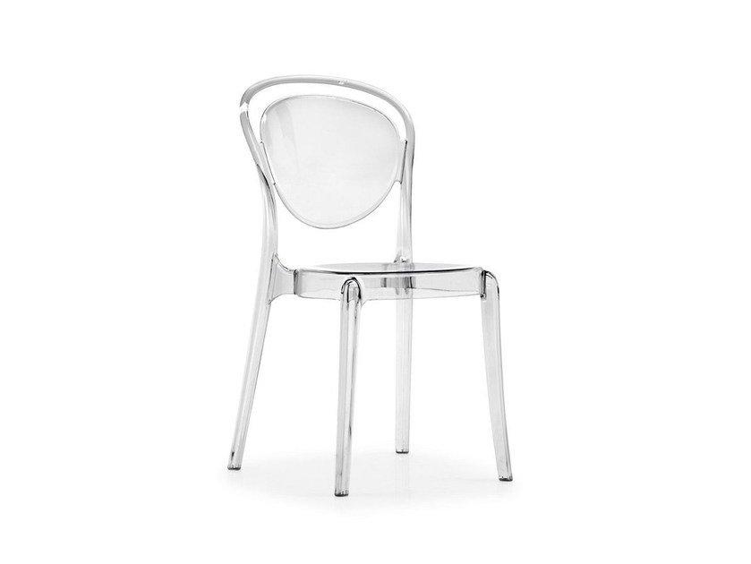 Stackable polycarbonate chair PARISIENNE by Calligaris
