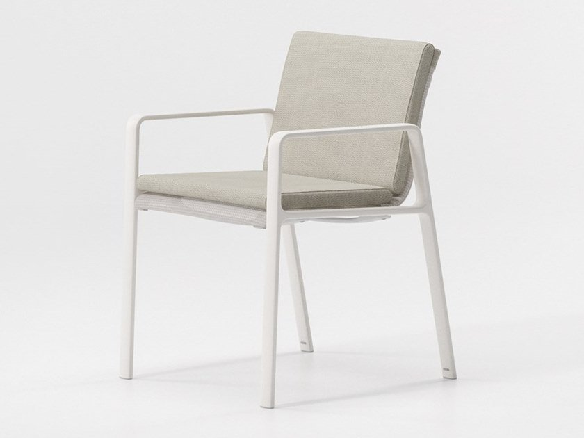Upholstered stackable garden chair PARK LIFE | Upholstered chair by Kettal
