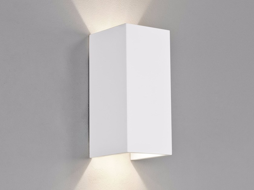 Led direct indirect light gypsum wall light parma 160 by astro lighting