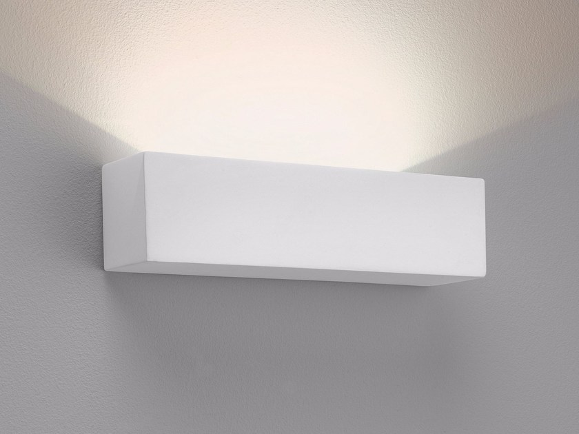 Applique a led a luce indiretta in gesso parma astro lighting