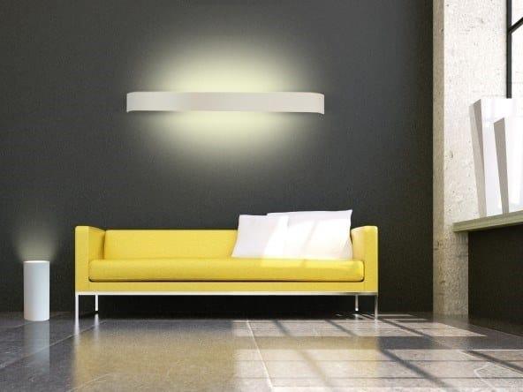 Plaster floor lamp PARMA by GESSO