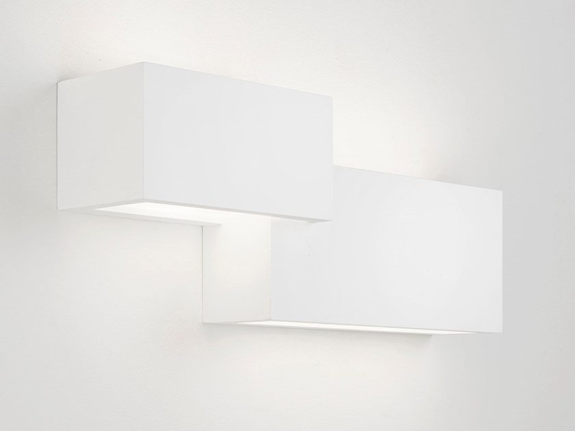 Lampada da parete in gesso paro by sforzin design marco spatti