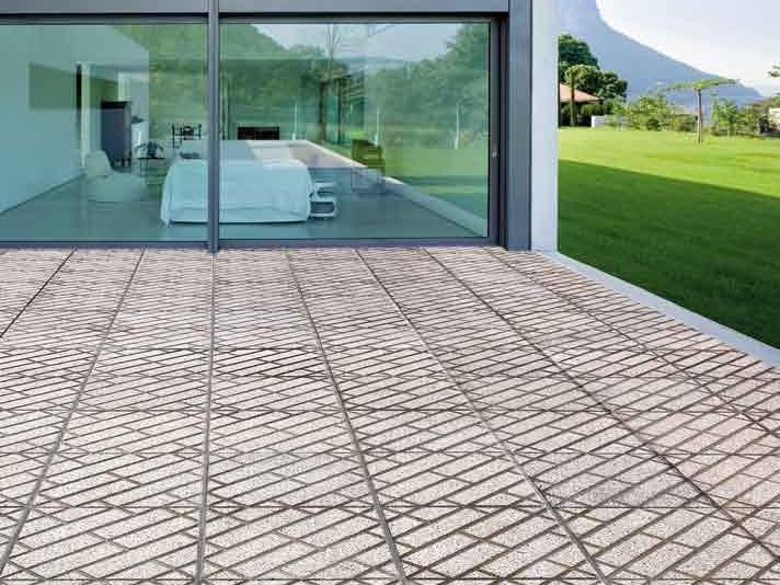 Vehicular marble grit outdoor floor tiles PARQUET by DONZELLA PAVIMENTI