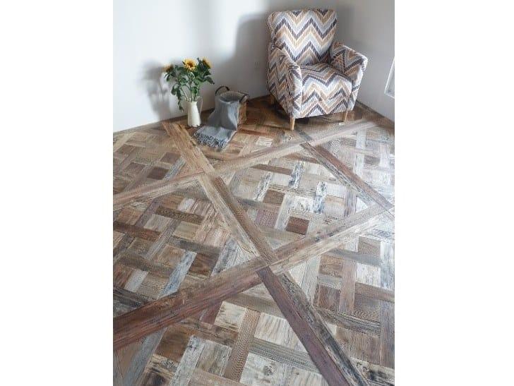 Pavimento in legno intarsiato PARQUET QUADROTTE by ANTICO TRENTINO