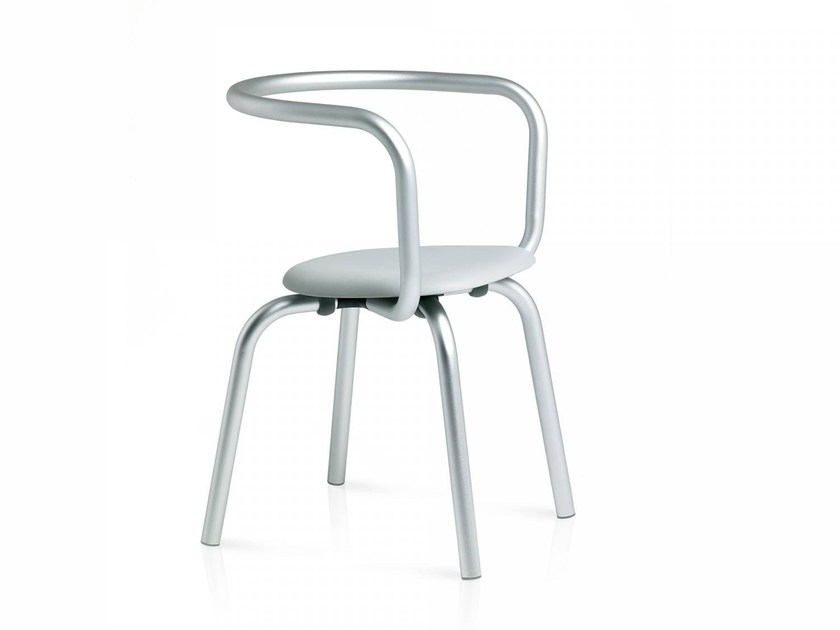 Stackable chair PARRISH   Stackable chair by Emeco