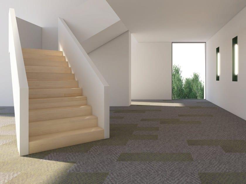 Carpeting with geometric shapes PARTS by Vorwerk Teppichwerke