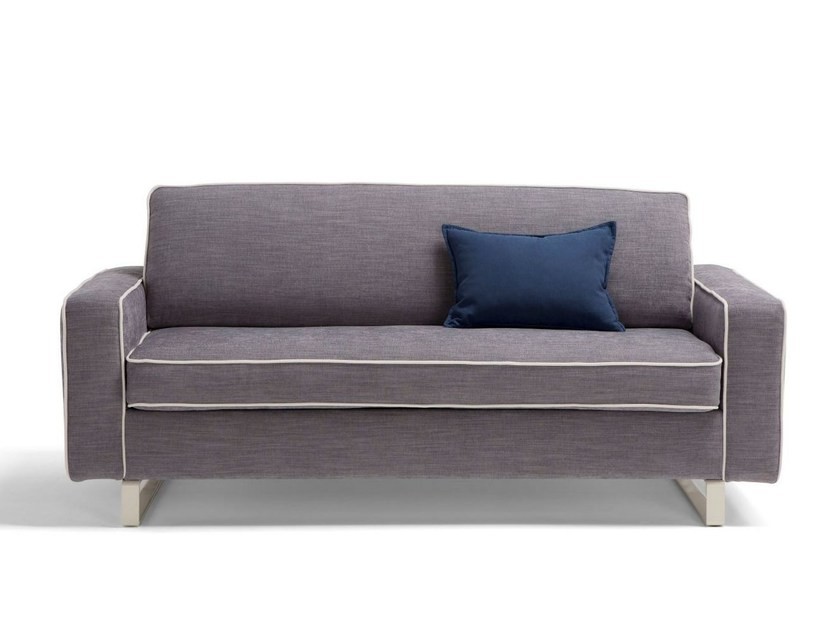 Fabric sofa bed with removable cover PASCAL by Dienne Salotti