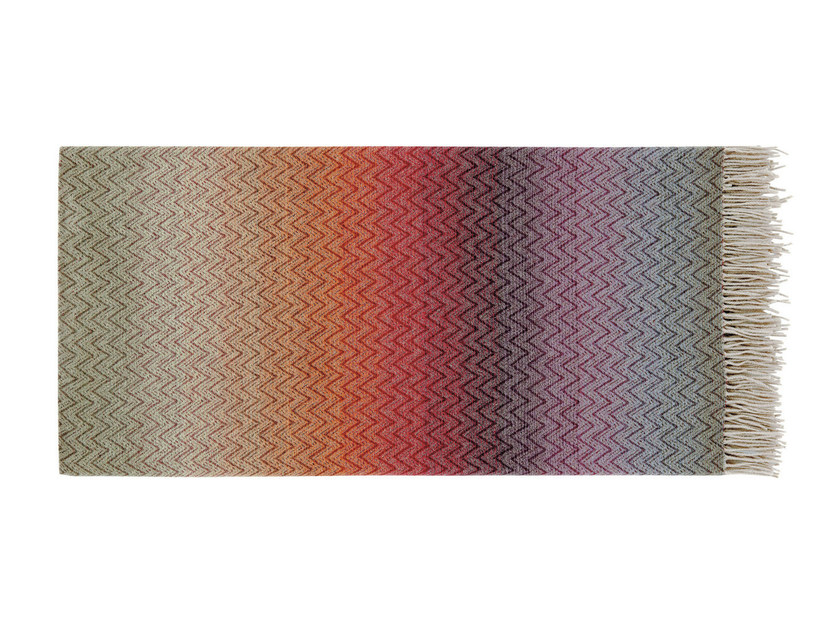 Multi-colored wool lap robe with graphic pattern PASCAL by MissoniHome