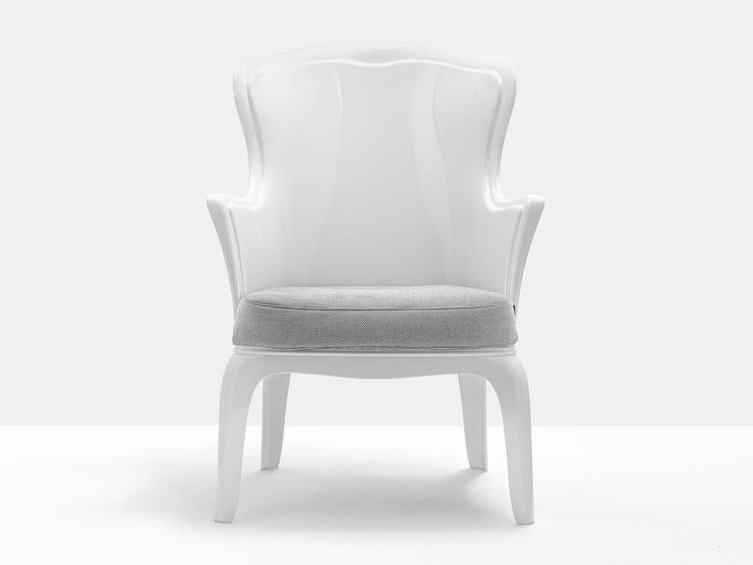 Polycarbonate armchair PASHA 660 by Pedrali