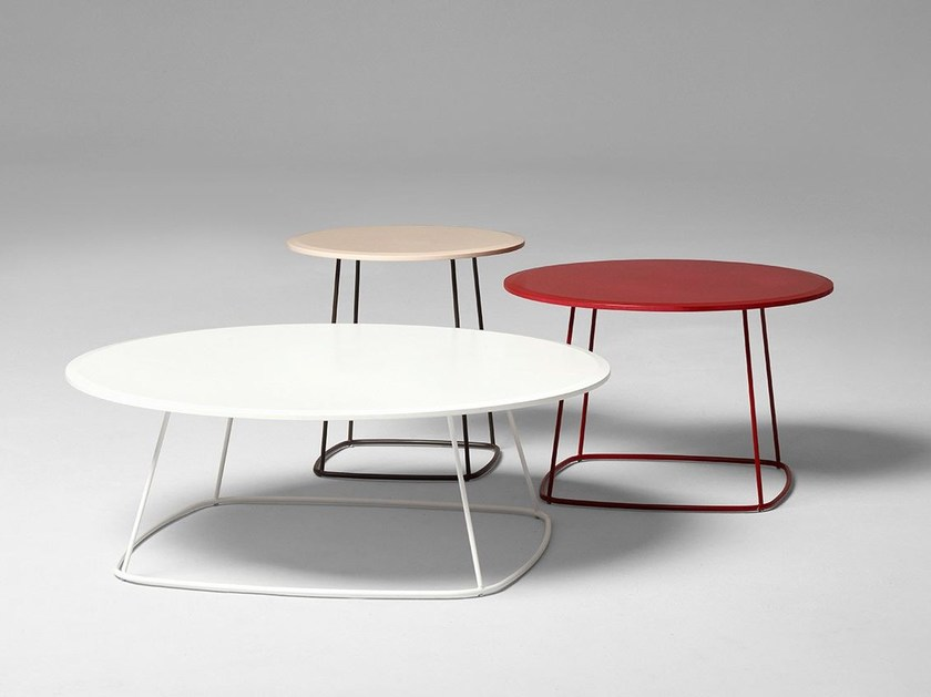 Lacquered round MDF coffee table PASSWORD by ALIVAR