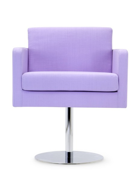 Contemporary style swivel upholstered fabric guest chair PASTEL LOUNGE | Swivel armchair by Domingo Salotti