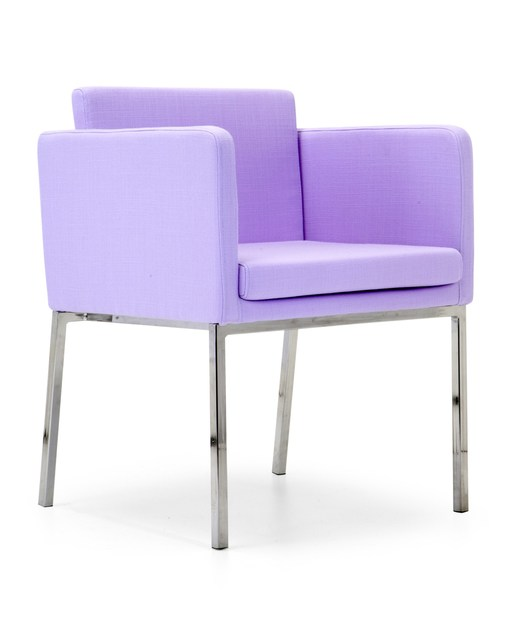Upholstered fabric guest chair PASTEL SMALL | Easy chair by Domingo Salotti