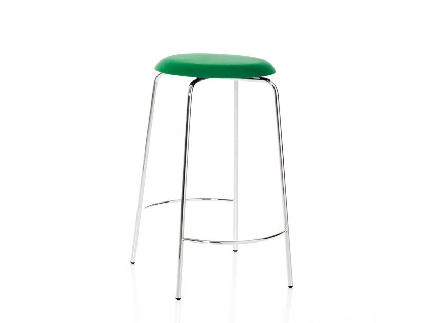 High stackable stool with footrest PASTILLO | High stool by Karl Andersson