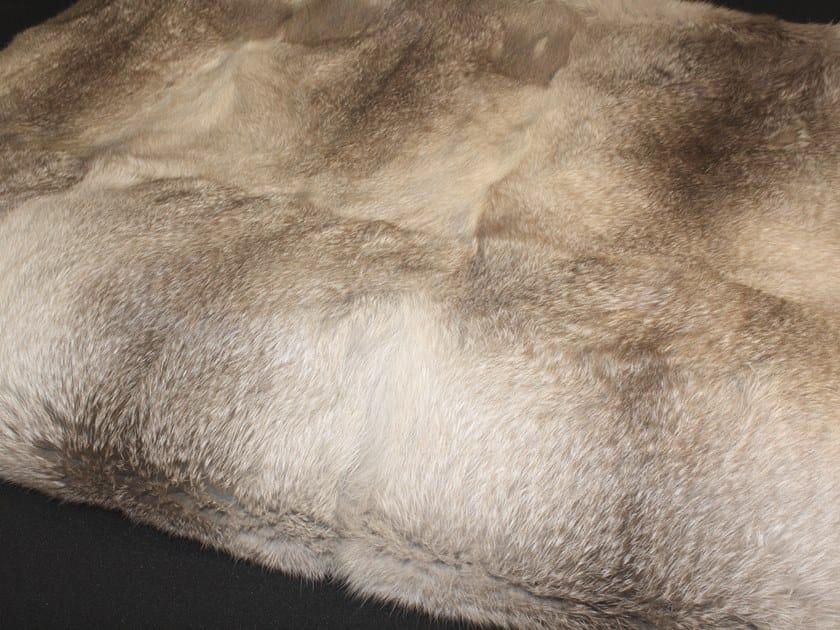 Natural fur throw and cushions PATAGONIA by Miyabi casa