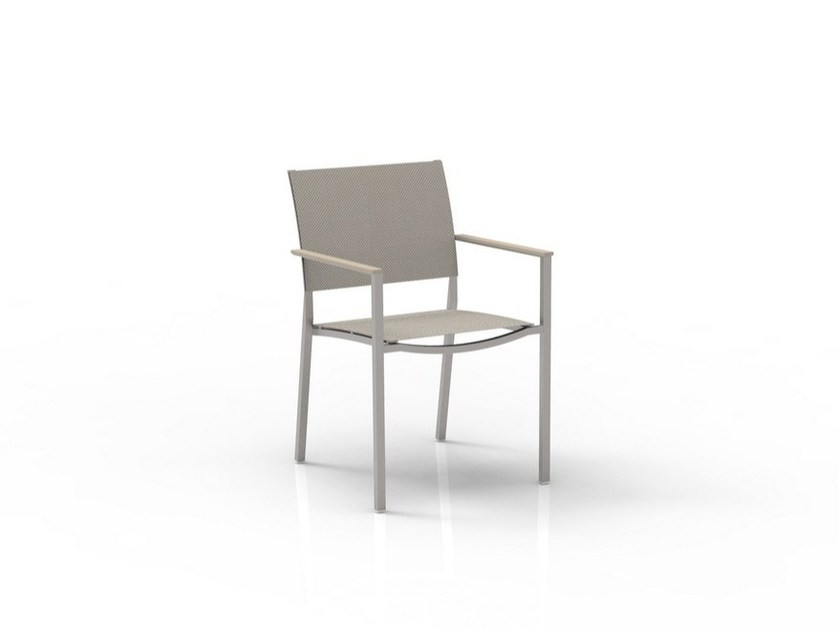 Textilene garden chair with armrests PATCH | Chair by Talenti