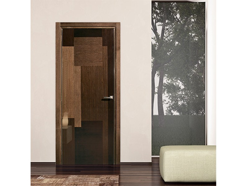 Hinged wooden door PATCH by Pail Serramenti