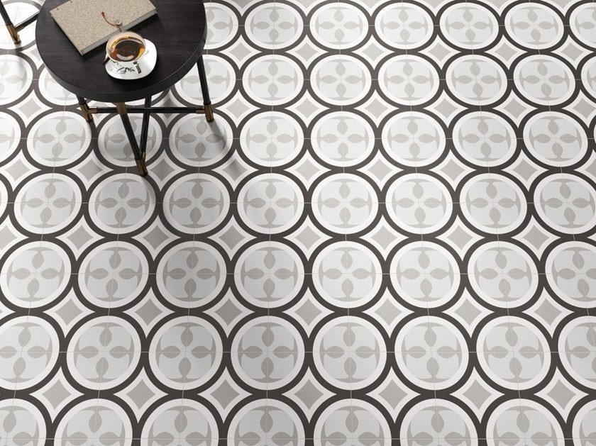 Porcelain stoneware wall/floor tiles PATCHWORK B&W 01 by CERAMICA SANT'AGOSTINO