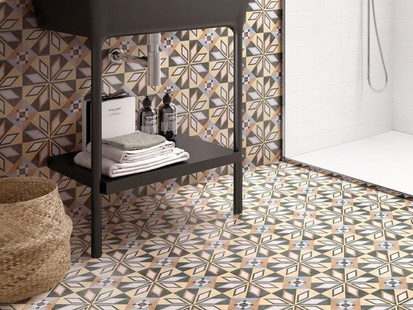 Porcelain Stoneware Wall Floor Tiles With Encaustic Effect