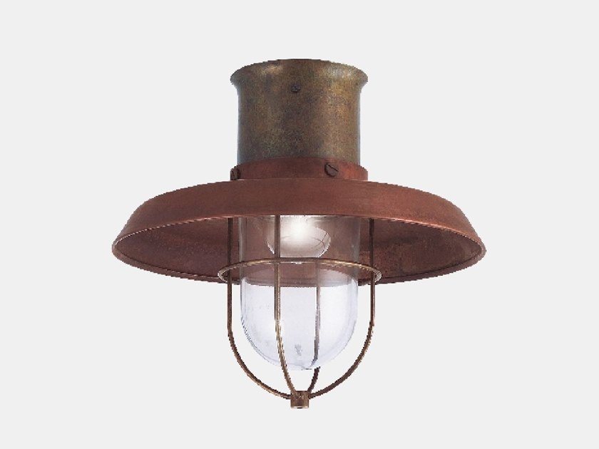 Metal outdoor ceiling lamp PATIO 225.04.ORT by Il Fanale