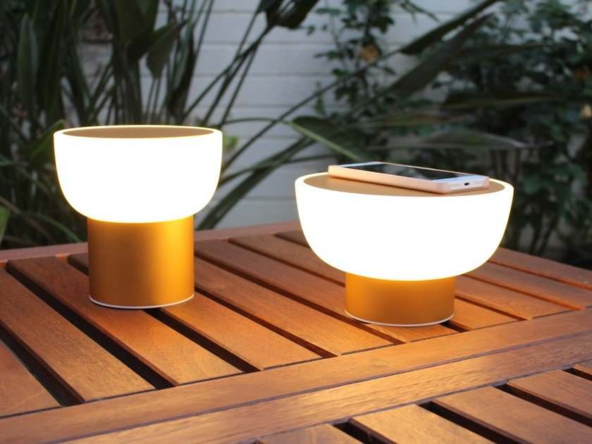 LED polyethylene table lamp PATIO by Alma light