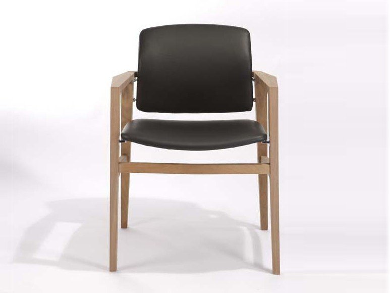 Upholstered chair with armrests PATIO | Chair with armrests by Potocco