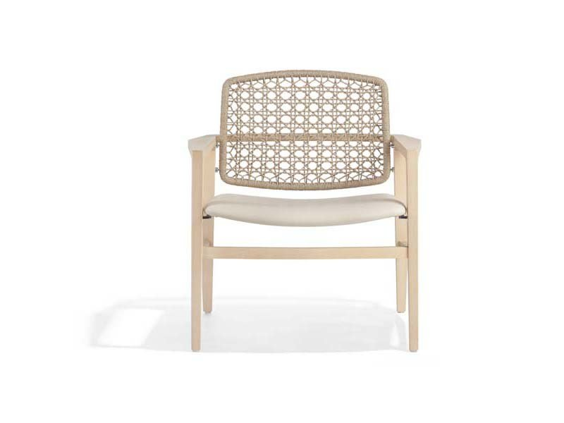 Rope chair with armrests PATIO | Chair with armrests by Potocco