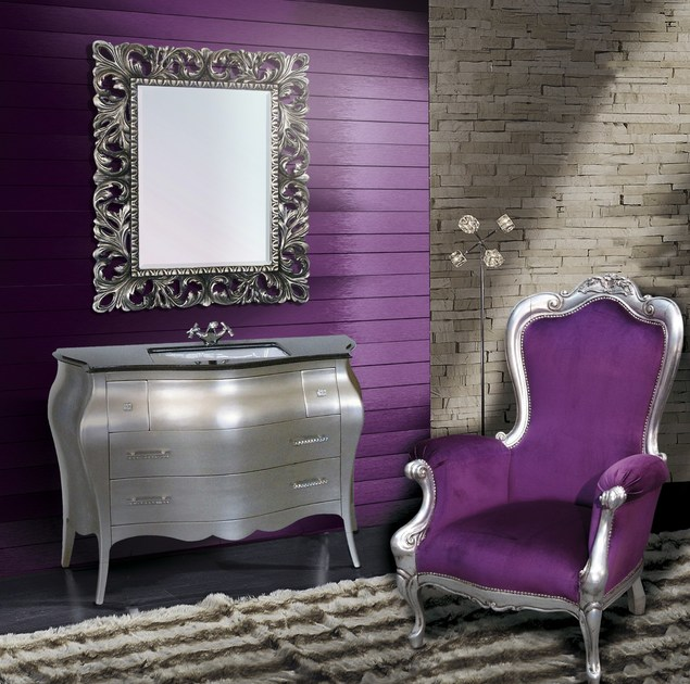 Lacquered vanity unit with drawers with mirror PATMOS CM11DC by LA BUSSOLA