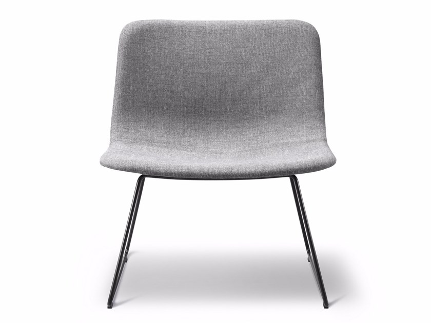Sled base upholstered fabric chair PATO LOUNGE | Sled base chair by FREDERICIA FURNITURE