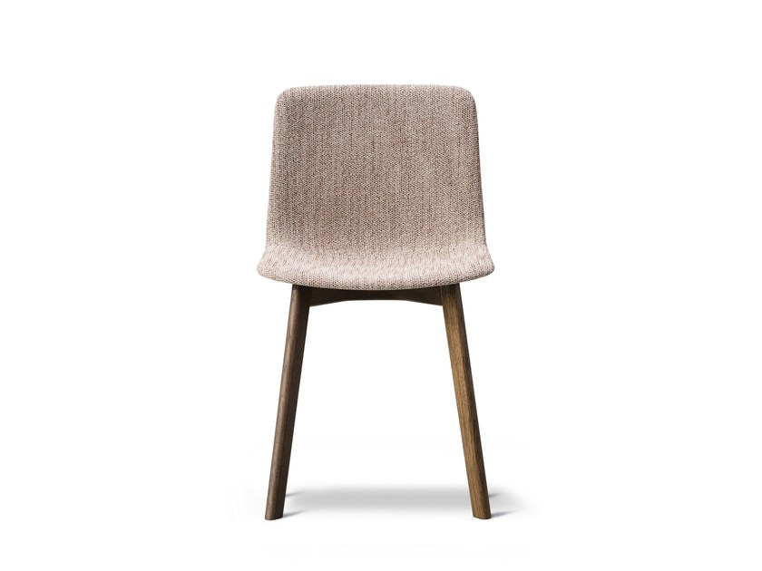 Upholstered fabric chair PATO WOOD BASE | Upholstered chair by FREDERICIA FURNITURE