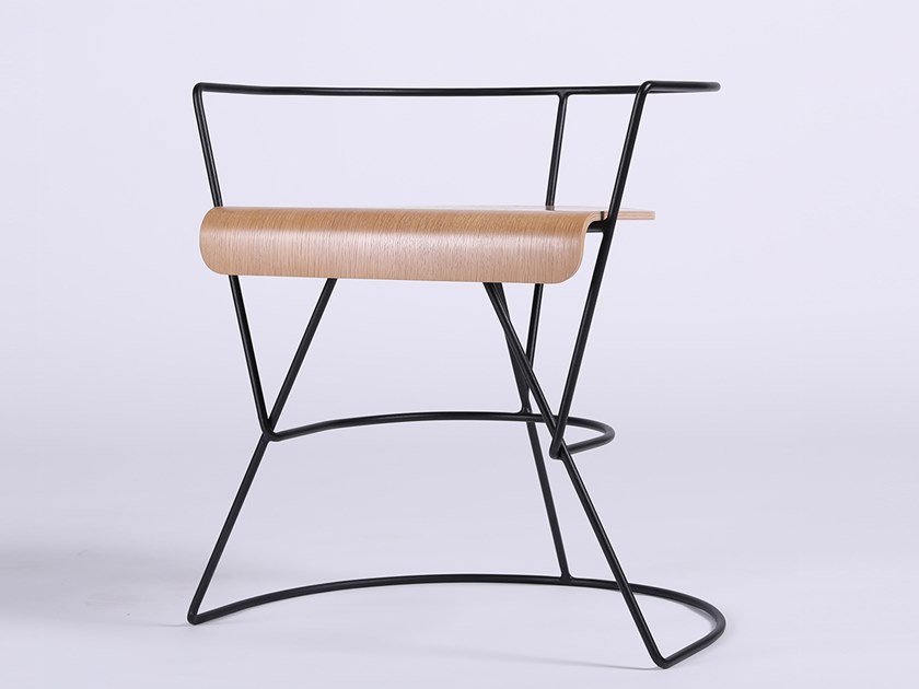 Open back multi-layer wood chair PATRICIUS 1 by ODESD2