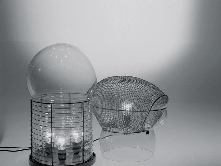 Halogen blown glass table lamp with dimmer PATROCLO by Artemide