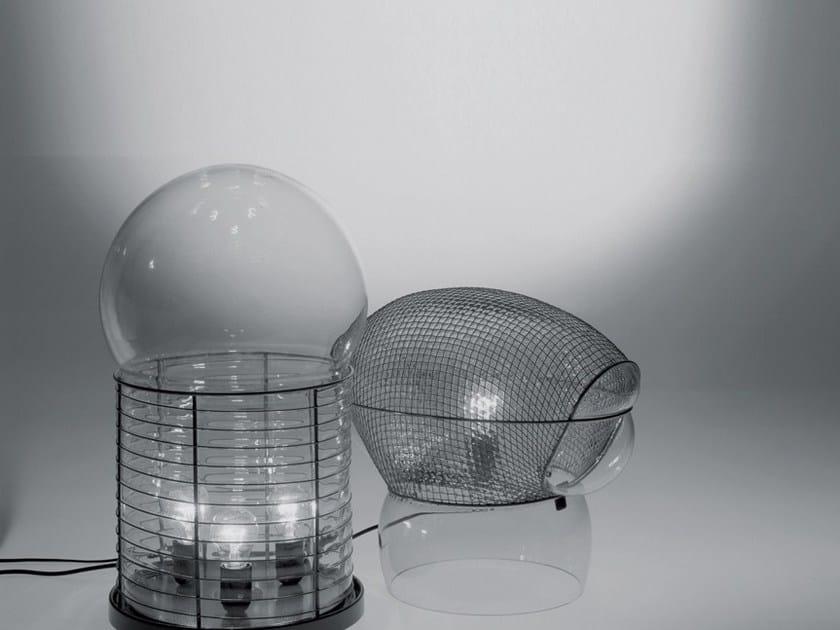 Lampada da tavolo alogena in vetro soffiato con dimmer PATROCLO by Artemide