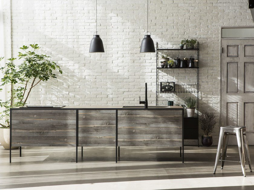 Kitchen with island without handles PATTINA | Kitchen by sanwacompany