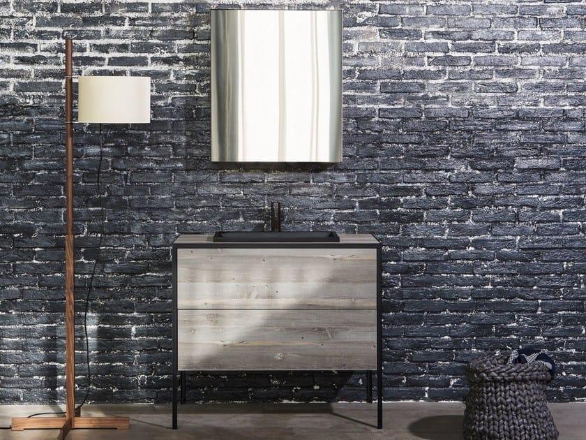 Single wooden vanity unit with drawers PATTINA | Vanity unit by Sanwa Company