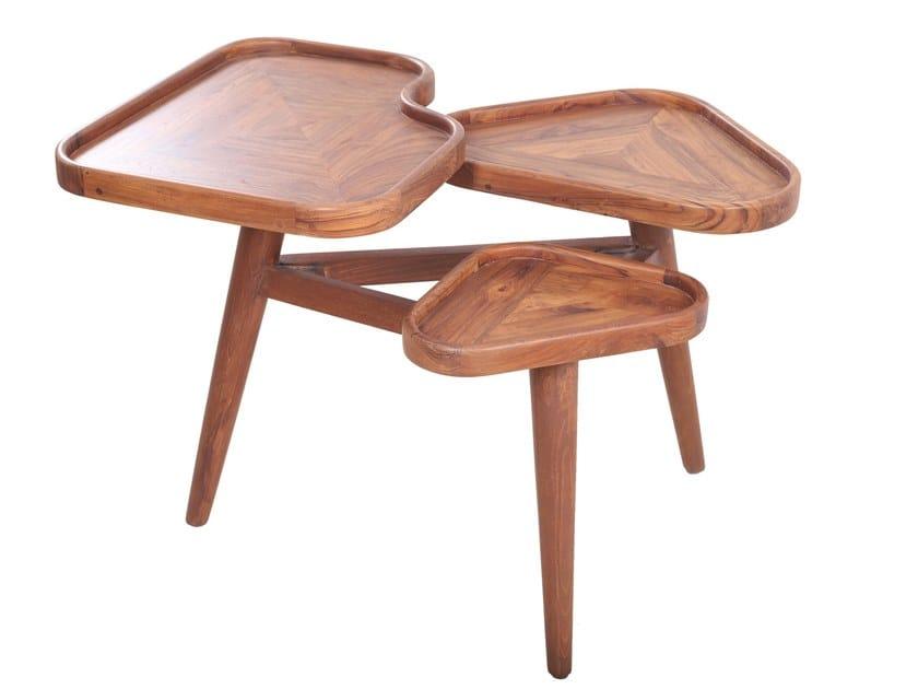 Teak coffee table for living room PATU by ALANKARAM