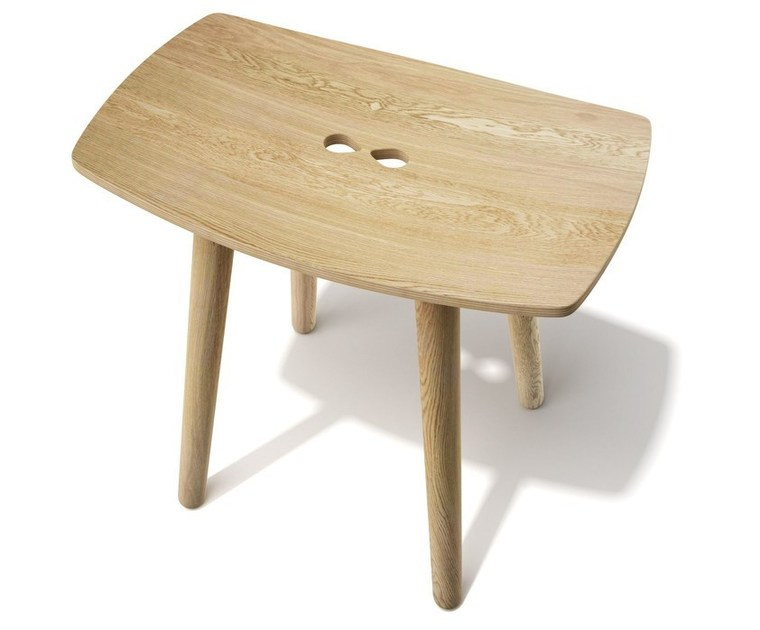 Contemporary style low wooden stool PAUL | Oak stool by sixay furniture